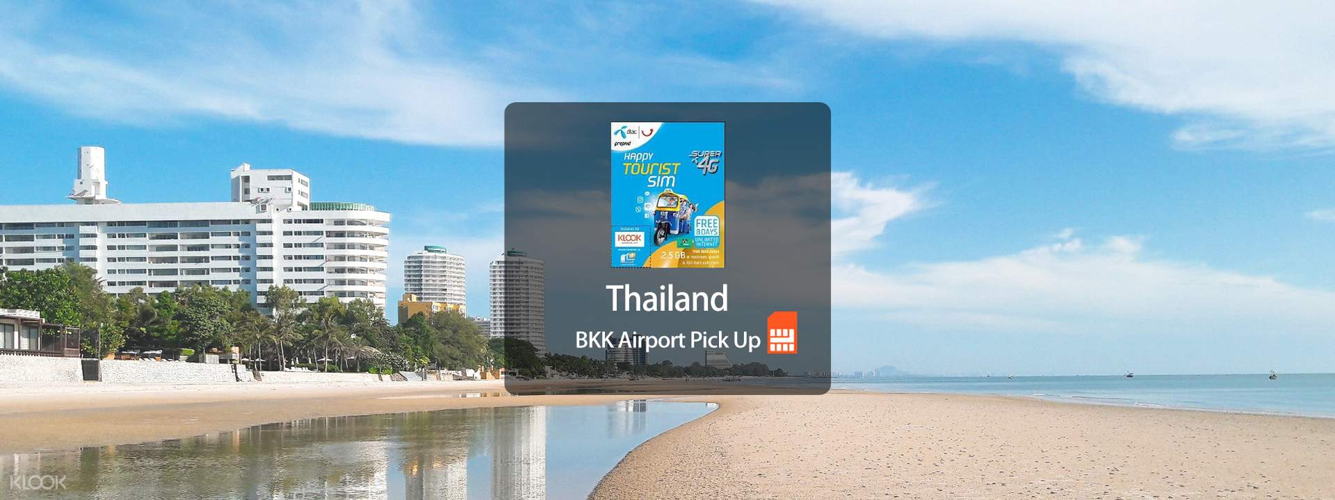 [SALE] 4G SIM Card (Klook Counter at BKK Airport Pick Up